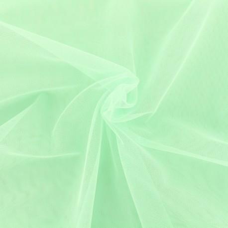 Tissu tulle doux Princesse - menthe x10cm