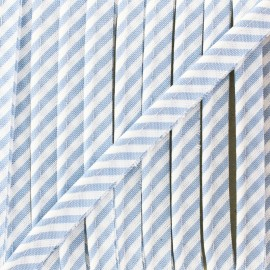 Large stripe piping - sky blue x 1m
