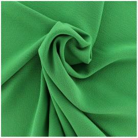 Tissu crêpe gaufré Linda - vert vif x 10cm