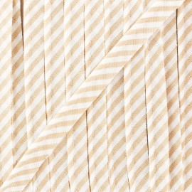 Large stripe piping - beige x 1m
