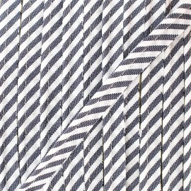 Large stripe piping - navy blue x 1m
