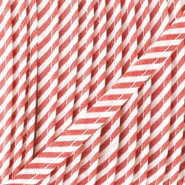 Large stripe piping - red x 1m