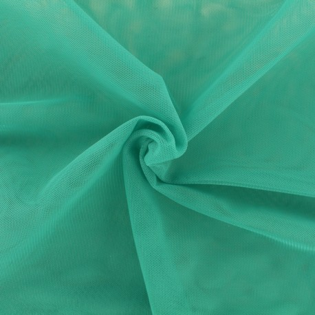 Luxury soft touch Tulle - green teal x 10cm