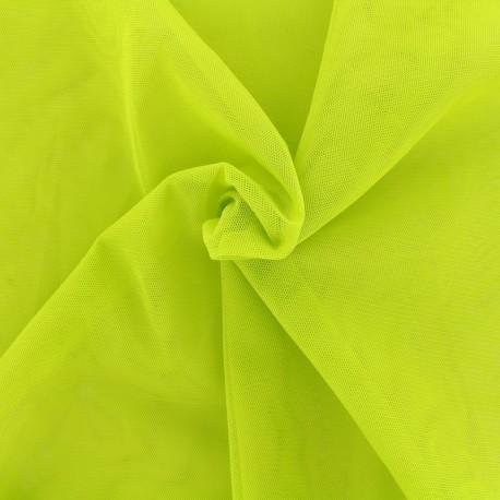Tissu tulle doux Princesse - citron vert x10cm