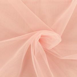 Tissu tulle doux Princesse - rose dragée x 10cm