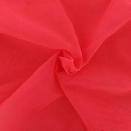 Tissu tulle doux Princesse - rose fraise x 10cm