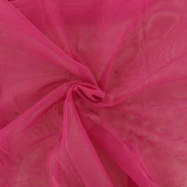 Tissu tulle doux Princesse - rose indien x 10cm
