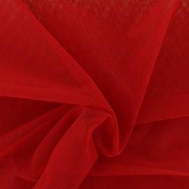 Tissu tulle doux Princesse - rouge à lèvres x 10cm