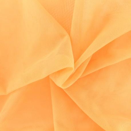 Tissu tulle doux Princesse - pêche x 10cm