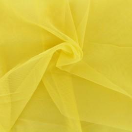 Tissu tulle doux Princesse - jaune printemps x 10cm