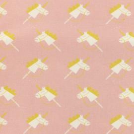 Madame Casse Bonbon Magic unicorns poplin fabric - pink x 10cm