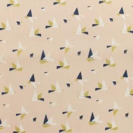 Oeko-Tex 1000 birds batiste fabric - pink x 10cm