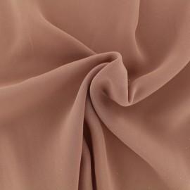 Tissu crêpe léger vieux rose x 10cm