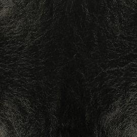 Tissu vinyl lustré frappé - noir x 10cm