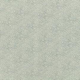 Tissu Viscose Serge petit pois mineral - fond blanc x 10cm