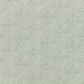 Viscose little mineral blue dots Serge - white background x 10cm