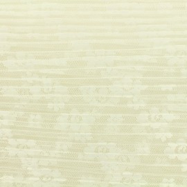 Pleated Tulle Fabric  Floréales - écru x 10cm