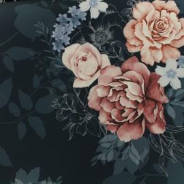 Tissu Gabardine polyester satiné Annabel - marine x 10cm