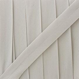 Glittery muslin bias binding - white x 1m