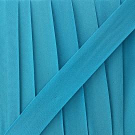 Glittery muslin bias binding - turquoise x 1m