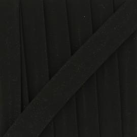 Glittery muslin bias binding - black x 1m