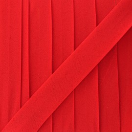 Glittery muslin bias binding - red x 1m