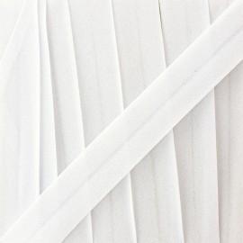 Biais mousseline pailleté - blanc x 1m