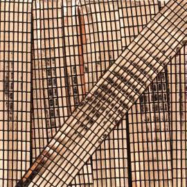 Biais fantaisie Spectacle  - cuivre x 1m