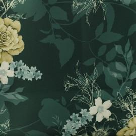 Tissu Gabardine polyester satiné Annabel - vert anglais x 10cm