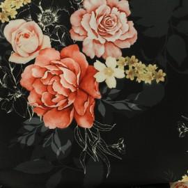 Tissu Gabardine polyester satiné Annabel - noir x 10cm