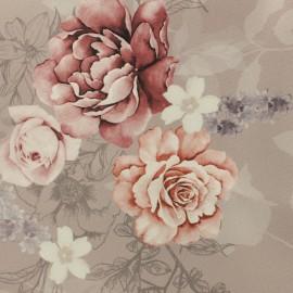 Tissu Gabardine polyester satiné Annabel - vieux rose x 10cm