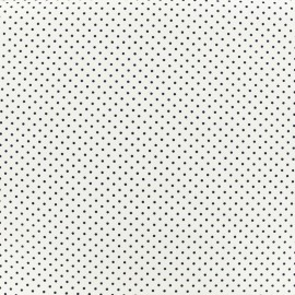Poppy cotton Fabric - black/white Mini pois x 10cm