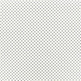 Tissu coton petit dots 2mm - blanc/nuit x 10cm
