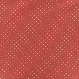 Poppy cotton Fabric - orange red Mini pois x 10cm