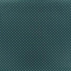 Cotton Fabric petits dots 2 mm - white/eucalyptus x 10cm