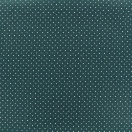 Cotton Fabric petits dots 2 mm - white/eucalyptus x 10cm