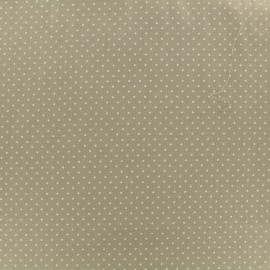 Poppy cotton Fabric - Beige Mini pois x 10cm