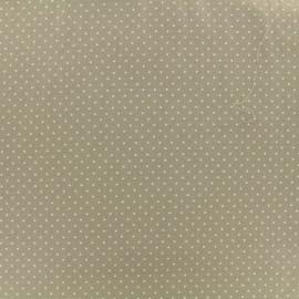 Tissu coton petit dots 2mm - beige/blanc x 10cm