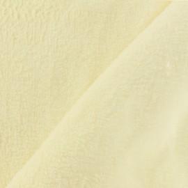 Tissu Piloudou vanille x 10 cm