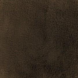 Tissu Piloudou chocolat x 10 cm