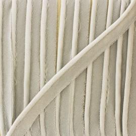Passepoil mousseline pailleté - gris souris x 1m