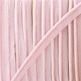 Passepoil mousseline pailleté - rose x 1m