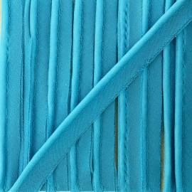 Passepoil mousseline pailleté - turquoise x 1m
