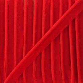 Passepoil mousseline pailleté - rouge x 1m