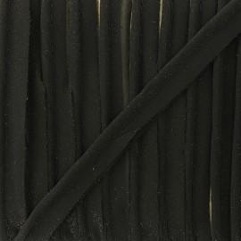 Glittery muslin piping - black x 1m