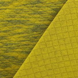 Tissu jersey matelassé Duty losanges 10/20 - moutarde et bleu x 10cm