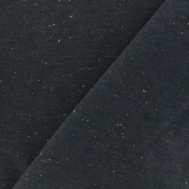 Oeko-Tex Flecked sweat fabric - midnight blue x 10cm