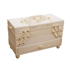 Wooden cantilever Sewing box with drawers