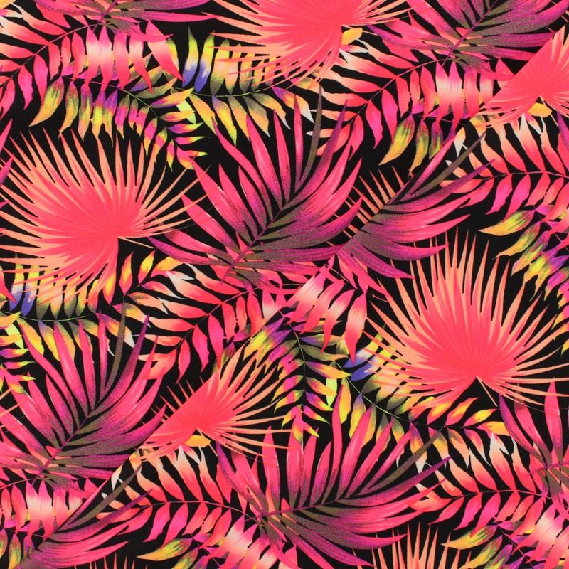 6493e5fbe4 ... Tissu Lycra épais Maillot de bain - pink jungle x 10cm ...