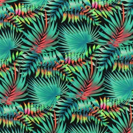 Tissu Lycra Maillot de bain Jungle - vert x 10cm